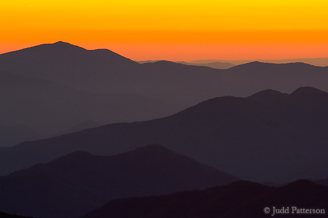 Sunset in the Smokies, Great Smoky Mountains National Park, Tennessee, United States