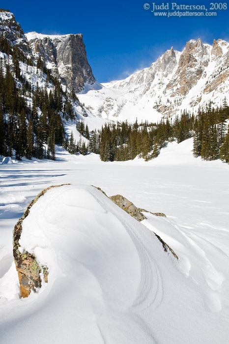 Frozen Dream Lake, Rocky Mountain National Park, Colorado, United States
