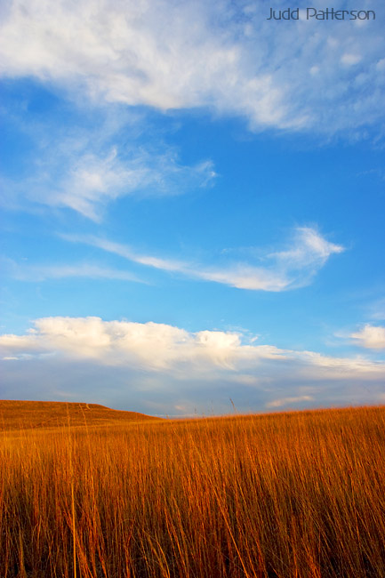 Lie in the grass...Dream in the sky..., Konza Prairie, Kansas, United States