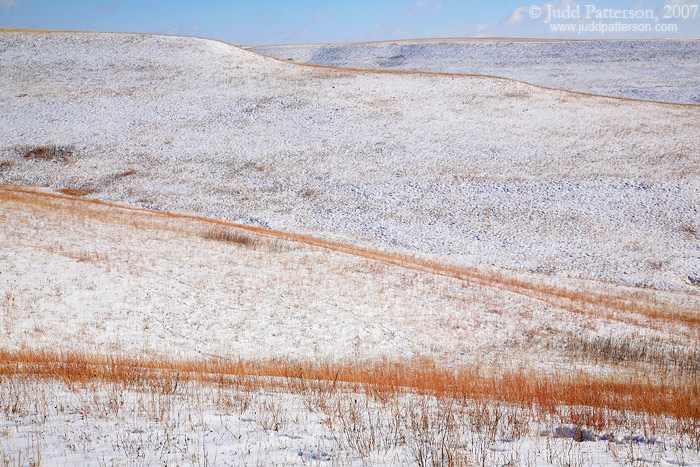 Snow Covered Hills, Konza Prairie, Kansas, United States