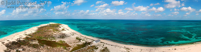 Loggerhead Key Lighthouse Panorama, Dry Tortugas National Park, Florida, United States
